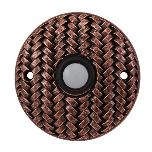 (Vicenza Designs D4010 Cestino Round Style Doorbell, Antique Copper)