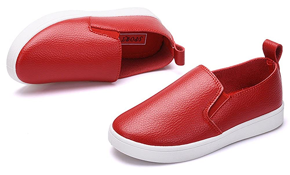 InStar Kids Super Cute Round Toe Slip On Sneakers Loafers Shoes