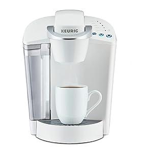 Keurig K-Classic Coffee Maker, K-Cup Pod, Single Serve, Programmable, White