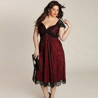 Damark(TM))))) Vestidos Mujer Casual Vestido de Verano Largo Maxi Falda Mujer Elegante Boda Playa Fiesta Noche Mujer Boho Vestido de Noche Maxi Playa ...