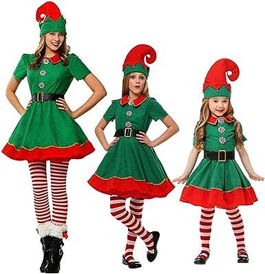 Million Trade Disfraz de Navidad Conjunto de Cosplay Duende Niñas ...