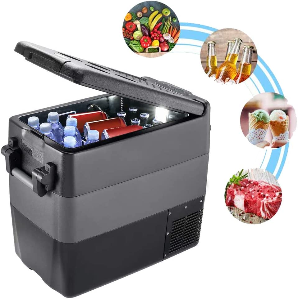 BLLJQ Portable Refrigerator Fridge, Car Freezer (-4℉~50℉), 50L Car Compressor Refrigerator, for Party Camping Gathering, Road Travel and Home Use