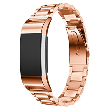 VICARA Fitbit Charge 2 Watch Band Stainless Steel Watch Strap ...