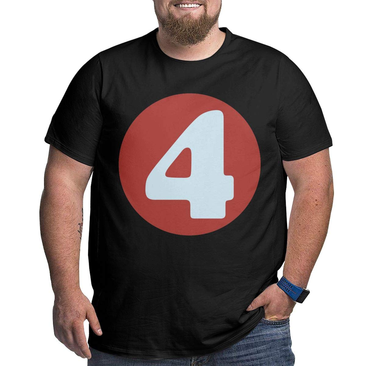 YONGCHOO JR Number Four #4 Mens Short Sleeve T-Shirt Big /& Tall Heavyweight T-Shirt