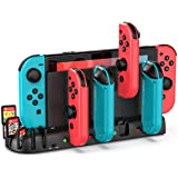 Switch Controller Charging Dock Station Replacement for Nintendo Switch Joy-Con, KDD Controller Charger Dock Station with 8 G
