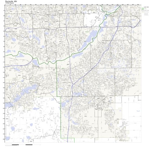 Burnsville, MN ZIP Code Map - Burnsville Minnesota