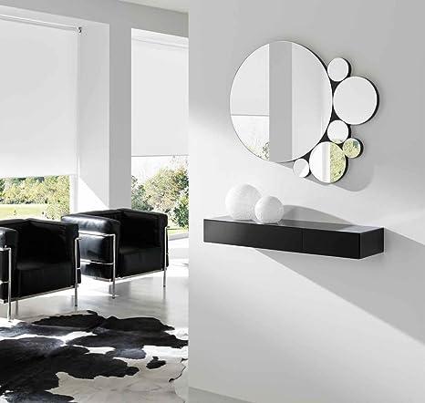 Ch Design - Specchio Moderno - Bob, 88 x 72 cm Nero: Amazon.it: Casa ...