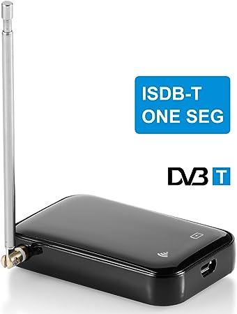 angno - Receptor de TV digital HD, antena, portátil, micro USB DVB-T2/T WIF DVB-T/ISDB-T