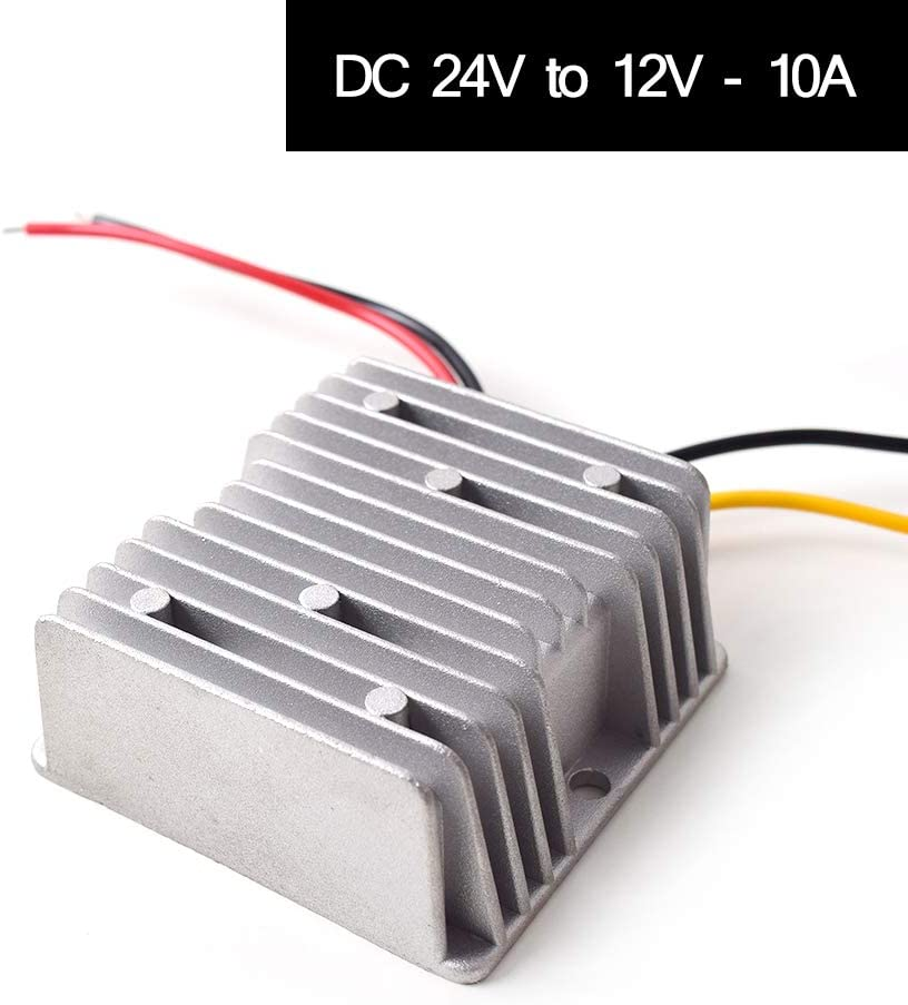 CC 24v a CC 12v Paso Abajo 10V 120W Camión Coche Podar Suministrar Adaptador Convertidor Reducer Regulador para Auto Coche Camión Vehículo Barco Solar Sistema, etc (Aceptar CC15-40V Entradas)