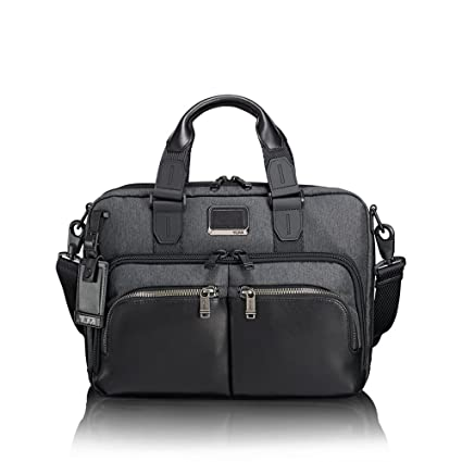 6e97cc8f3993 TUMI - Alpha Bravo Albany Laptop Slim Commuter Brief Briefcase - 14 Inch  Computer Bag for Men and Women - Anthracite