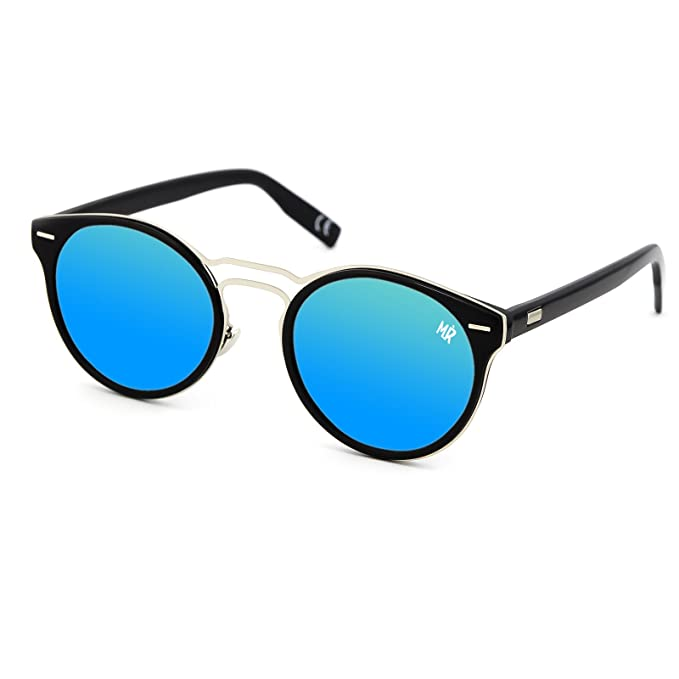 8ae2522481 Gafas de sol MYRETRO - mod. BEL AIR - hombre mujer RONDA fashion vintage  GLAMOUR - NEGRO/Azul: Amazon.es: Ropa y accesorios