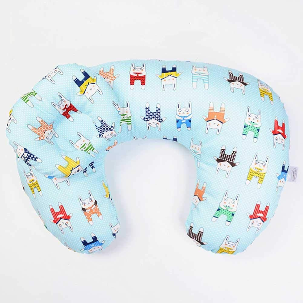 Cojín de lactancia multifuncional transpirable para bebé, apoyo de lactancia, embarazo, espalda en forma de U, funda de algodón para recién nacido ...