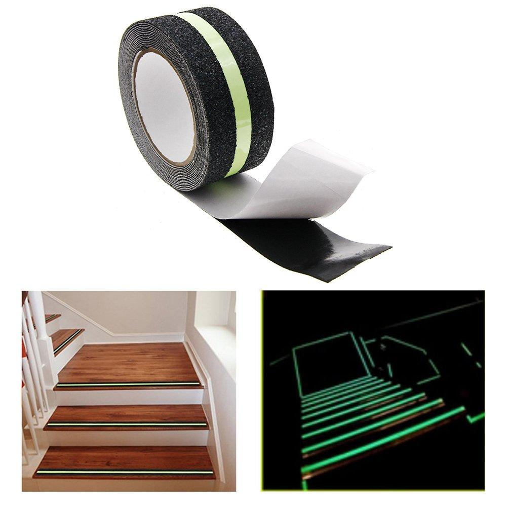 Rungao Luminous Ruban adh/ésif antid/érapant lumineux pour bande descalier marquage au sol