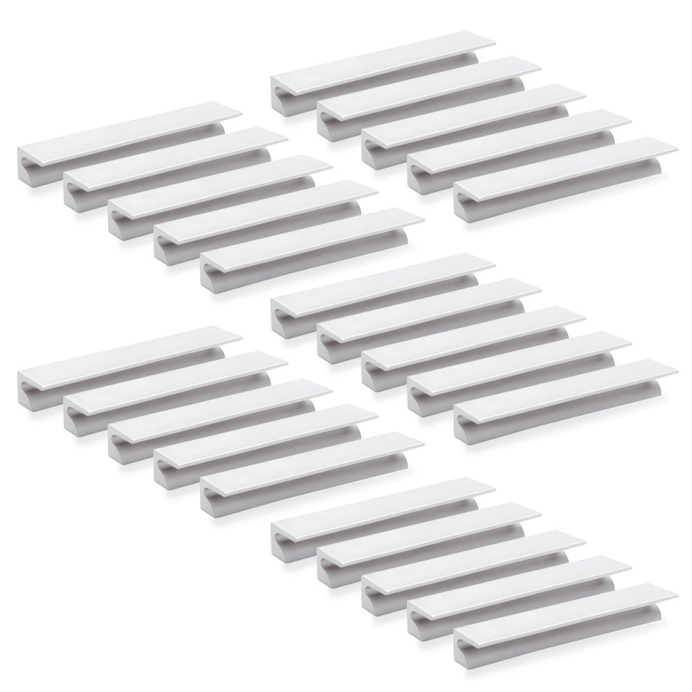 Emuca 9162962 Poignée pour meuble - CC 64mm - aluminium - anodisé mat - Set de 25 pièces