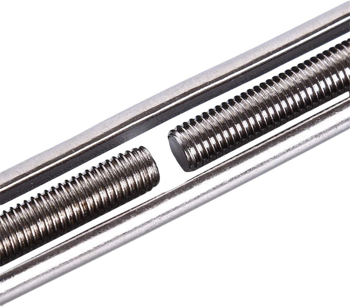 Idiytip Turnbuckle Wire Tensioner Stainless Steel Turnbuckle Tensioner Adjustable Turnbuckle Hook,M12