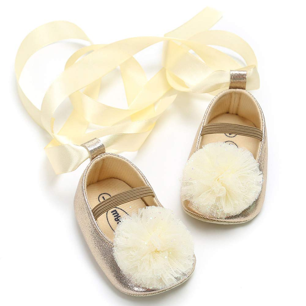 Voberry- Baby Girl Flower Princess Shoes Fashion Bandage Shoes Toddler First Walkers Shoes