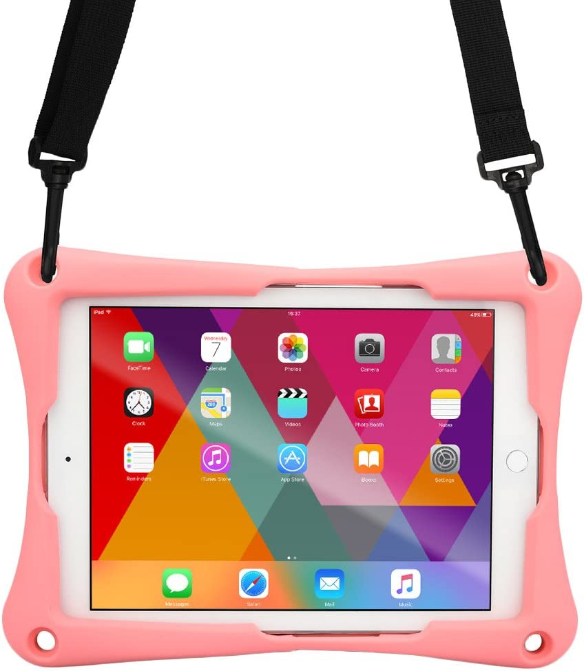 Cooper Trooper 2K Rugged Case for 10-10.4'' Tablet | Tough Bumper Protective Drop Shock Proof Kids Holder Carrying Cover Bag, Stand, Hand Strap (Pink)