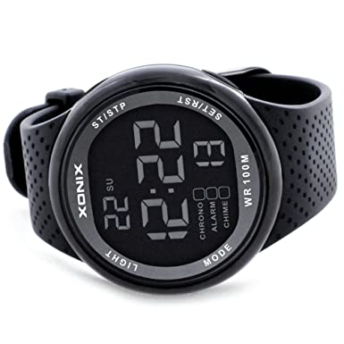 Amazon.com: Men 100M Relogio Masculino LED Digital Diving Swimming Reloj Hombre Sports Watch Sumergible Wristwatch: Watches
