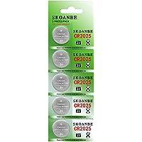 SKOANBE 5Packs CR2025 3V Lithium Button Coin Cell 2025 Battery