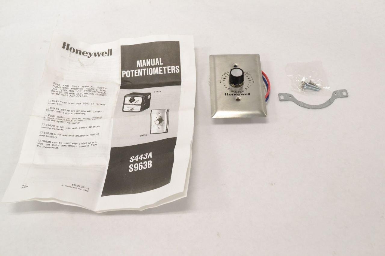 Honeywell, Inc. S963B1136 Manual Potentiometer (270 ohm)