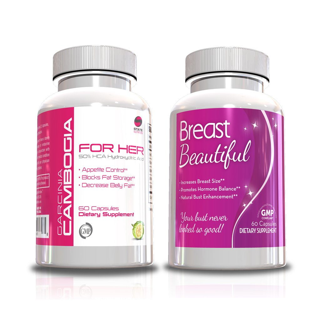Womens Fitness Kit-Garcina for Her & Breast Beautiful, 30 Day Supply, Women Health Supplements