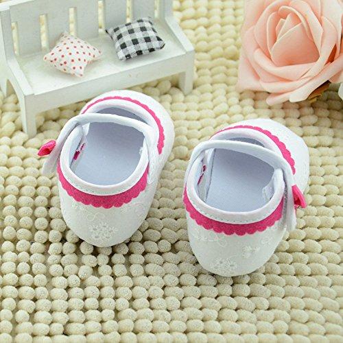 Ularma Baby Mädchen Weichen Canvas Sneaker Sportschuhe Wanderschuhe babyschuhe (2, Weiß) Weiß