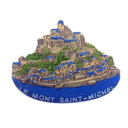 Hqiyaols Souvenir Mount-Saint-Michael Manche Francia Refrigerador ...