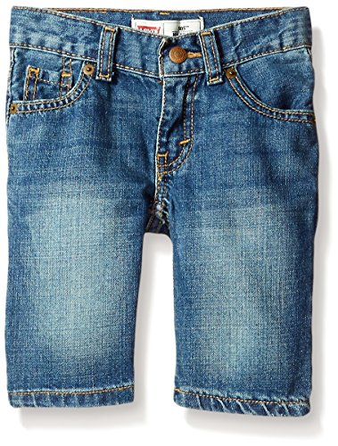 Levi's Boys' Regular Fit Denim Shorts, Well Worn, 7 ()