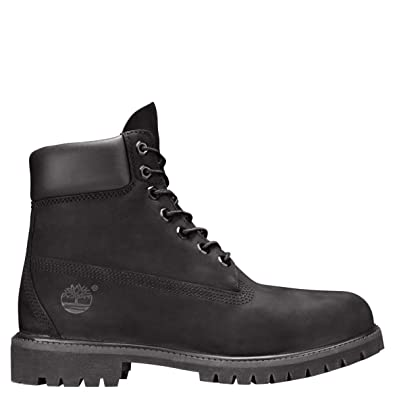 448e40b0ec1 Timberland , mens 6 Inch Premium Waterproof, Black nubuck, 39 UK (39 EU