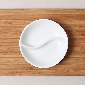 Amazon.com: CANPAN Juego de cubiertos de porcelana blanca ...