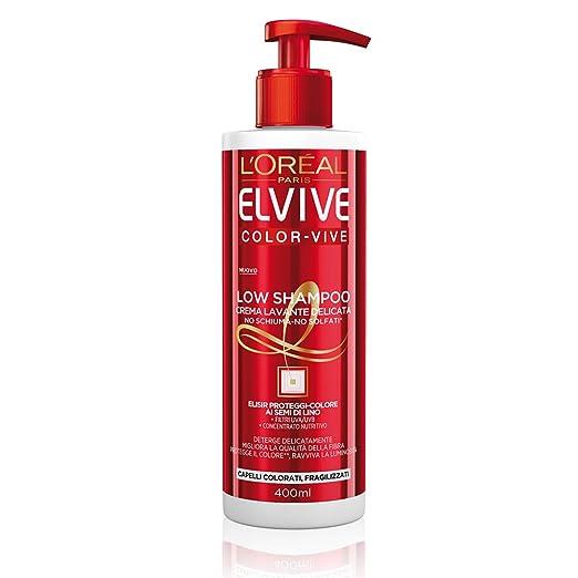 179 opinioni per L'Oréal Paris Elvive Low Shampoo Color-Vive, Shampoo Delicato Senza Schiuma e