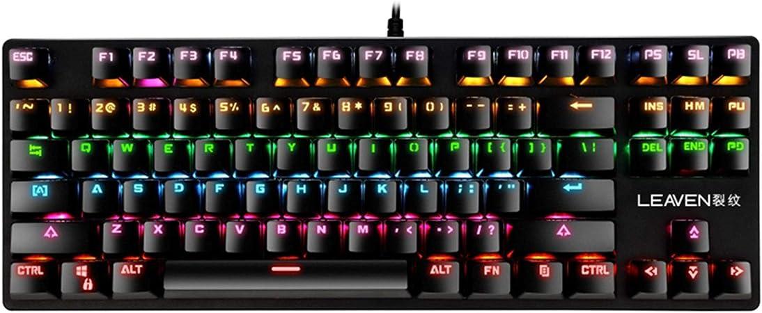MagiDeal Teclado mecánico Punk K550 para Juegos, 87 Teclas de ...