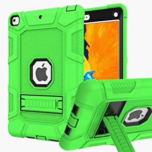 iPad 6th Generation Cases, iPad Case, iPad 9.7 Inch Case, Hybrid Shockproof Rugged Drop Protection Cover Built with Kickstand for iPad 9.7 inch A1893 / A1954 / A1822 / A1823