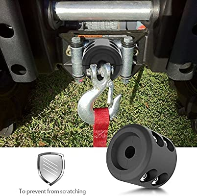 Winch Cable Hook Stopper Rubber Winch Rope Line Saver Accessories For ATV UTV