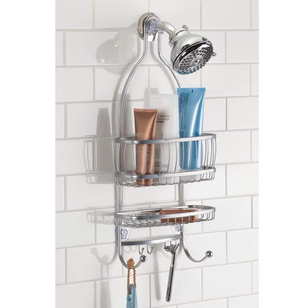 Interdesign York Lyra Extra Wide Bathroom Shower Caddy For Shampoo