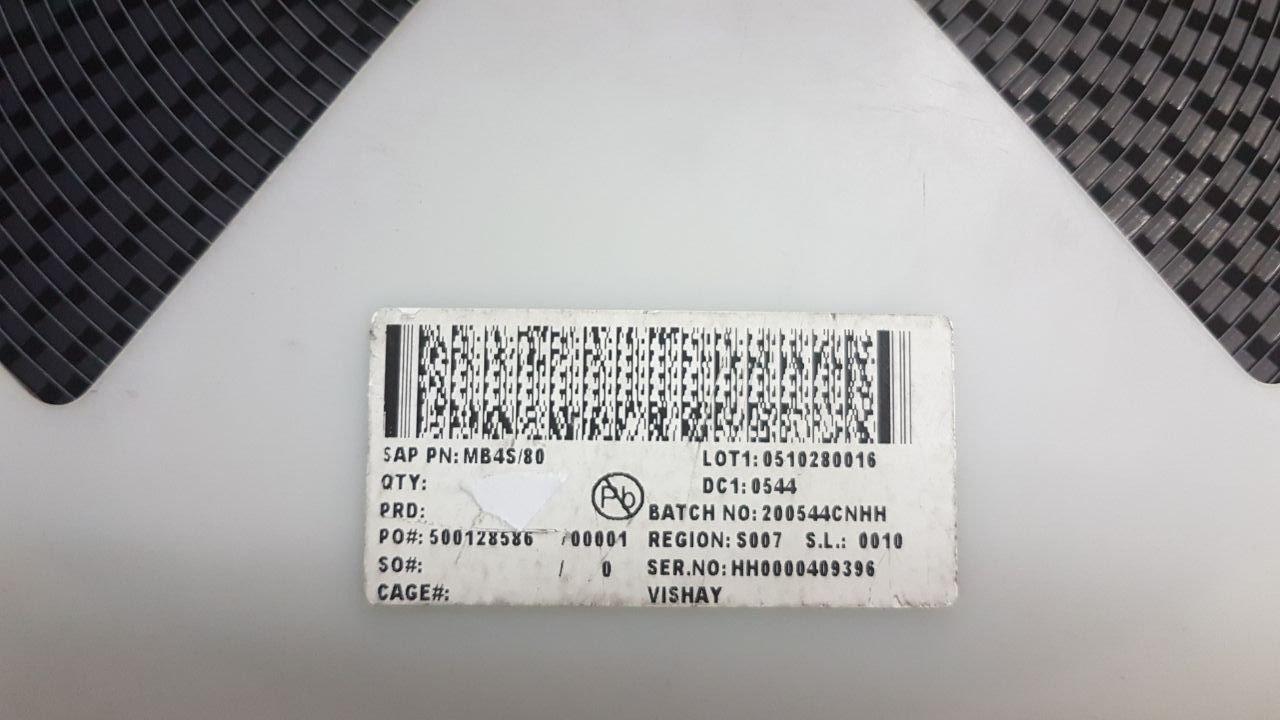 493 X VISHAY MB4S/80 BRIDGE RECTIFIER, 0 5A, 400V, SMD