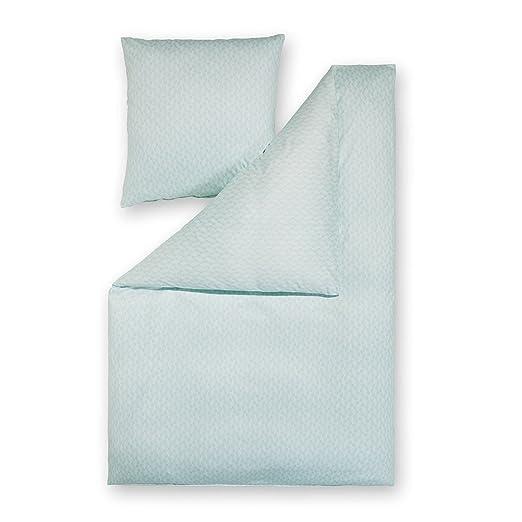 Estella de de cama de punto interlock Dilan Aqua, 100 ...