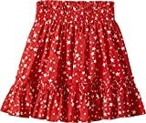 Stella McCartney Kids Baby Girl's Twinkle Star Print Pleated Skirt (Toddler/Little Kids/Big Kids) Red Youth 12 Big