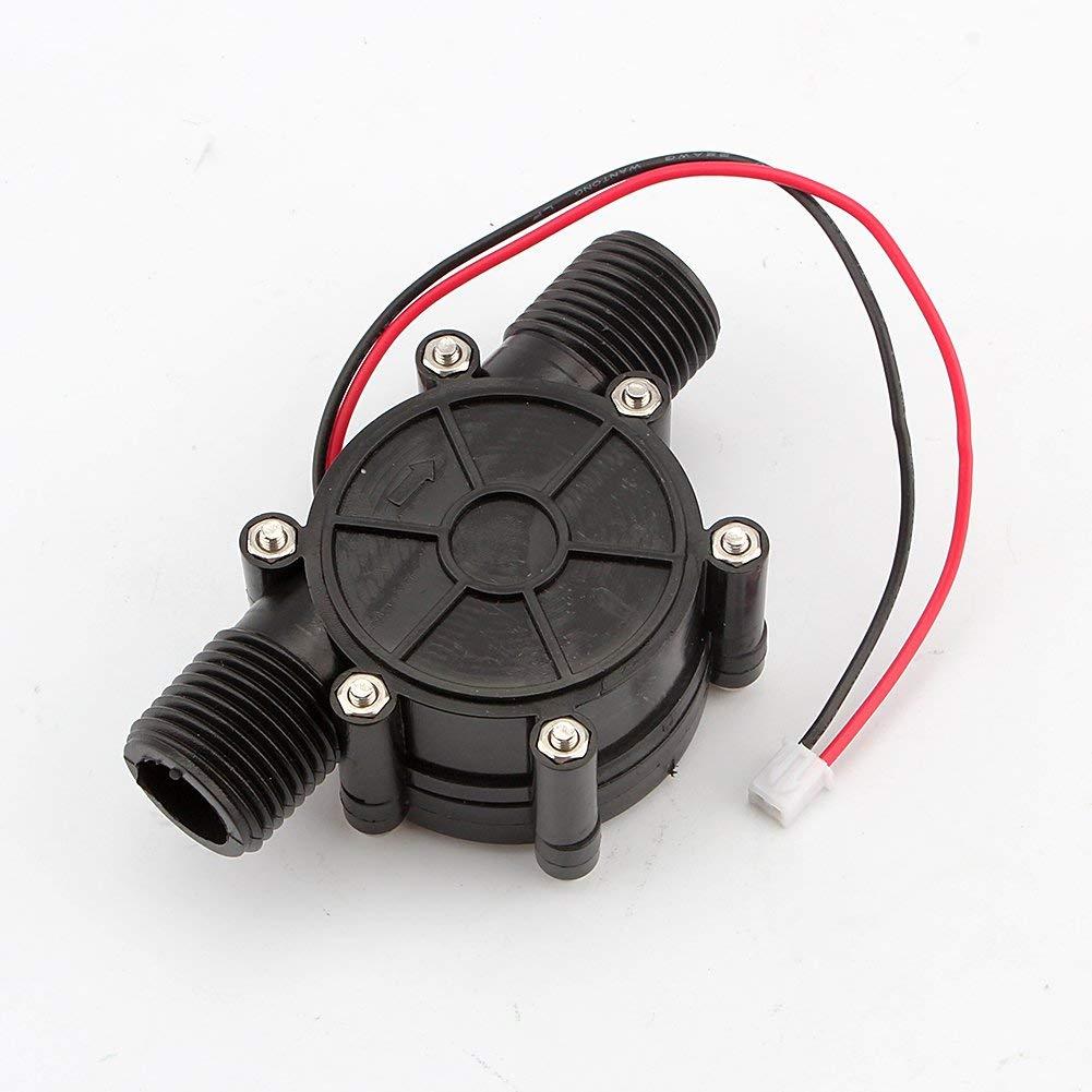 Acogedor Generador de Turbina de Agua 12V DC 10W Micro Generador Hidroel/éctrico Herramienta de Carga
