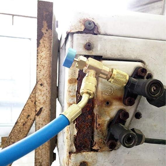 Yuaierchen 2 piezas R410A R22 acoplador r/ápido para aire acondicionado adaptadores de v/álvula de seguridad