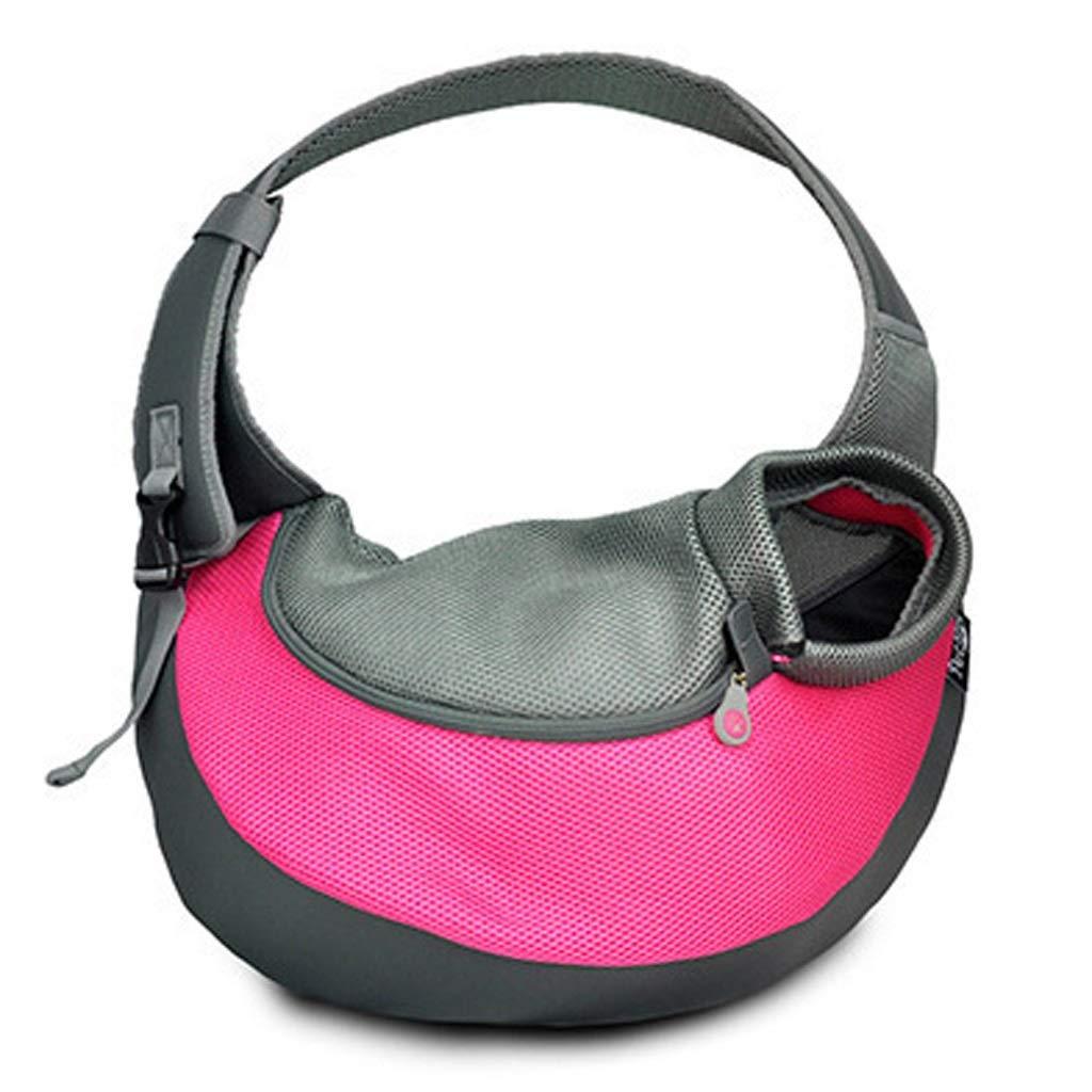 pink Large  40x8.5x high 14.5x13cm pink Large  40x8.5x high 14.5x13cm LSLMCS Cross-Body Pet Outing Portable Cat Travel Bag Pet Mesh Breathable Cat Bag for Excursions (color   pink, Size   Large  40x8.5X high 14.5x13cm)