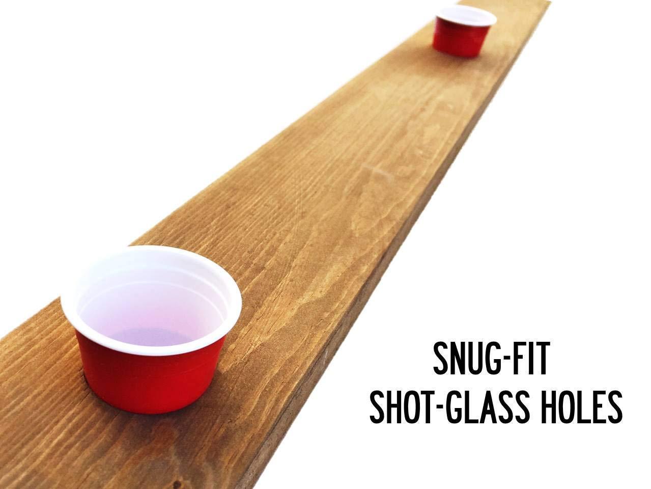 4 Person Shot Drinking Ski with Plastic Shot Glasses USA Drink/'n Ski