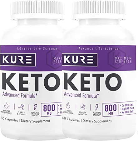 Kure Keto - Maximum Strength - Keto Advanced Formula - 120 Capsules - 60 Day Supply