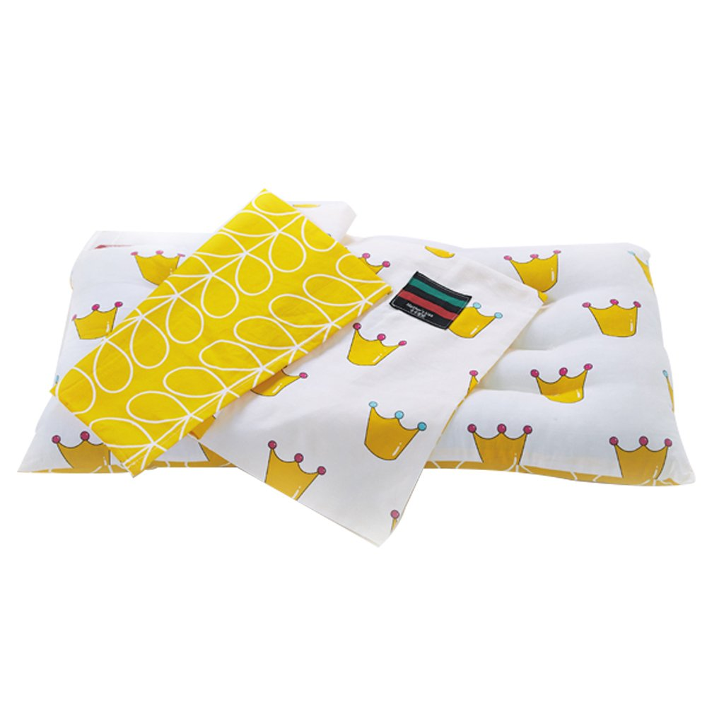 XDOBO 24.4x12.6 in Pearl cotton Newborn Infant Toddler Pillow Preventing Flat Head Correct Head Shape 6-36 Months Yellow