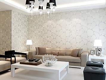 Papel pintado no tejido sencillo y moderno dormitorio living ...