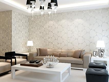 Papel pintado no tejido sencillo y moderno dormitorio living comedor ...