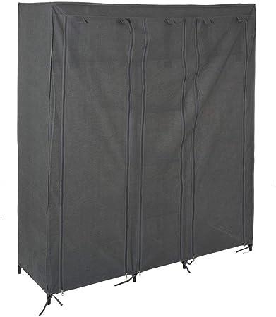 Armario 2 armarios + 4 estantes - Gris jaspeado: Amazon.es: Hogar