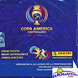 2016 Panini Copa America Centenario ABSOLUTELY HUGE 50 Pack Factory Sealed Box with 350 Stickers! Look for Top Soccer Superstars from 16 Teams including Lionel Messi, Neymar, Luis Suarez & Many More!