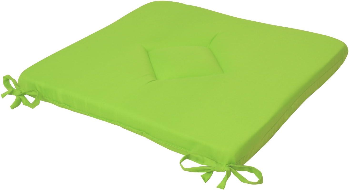 40x40x3 cm Beautissu Stuhlkissen Kim Dekoratives Sitzkissen f/ür angenehmen Sitzkomfort in Wohnung und Garten Ecru