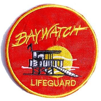 4796b355ae5b Fancy Dress BAYWATCH Lifeguard Patch Badge Transfer Applique  Amazon.co.uk   Kitchen   Home